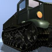 Voroshilovets - soviet heavy tractor 3d model