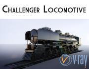 Паровая машина Challenger 3d model