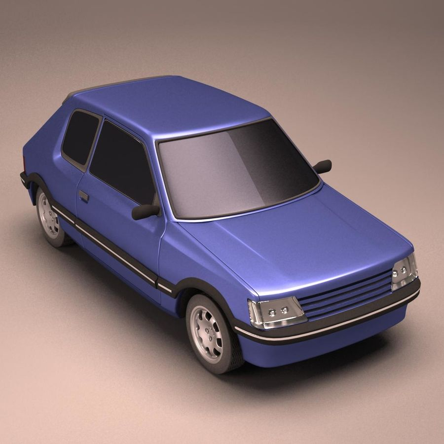 Compact Car royalty-free 3d model - Preview no. 7