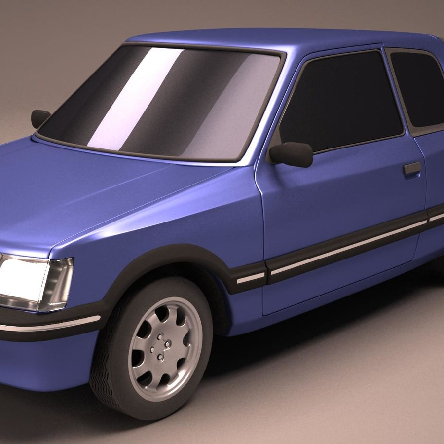 Compact Car royalty-free 3d model - Preview no. 9