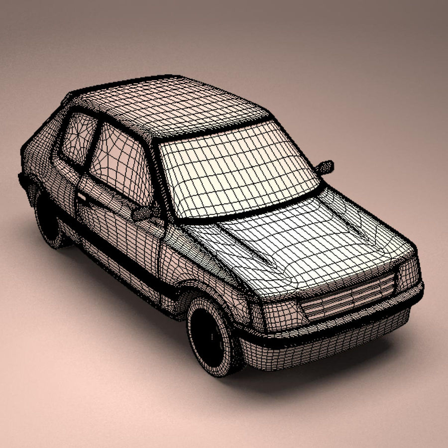 Compact Car royalty-free 3d model - Preview no. 20