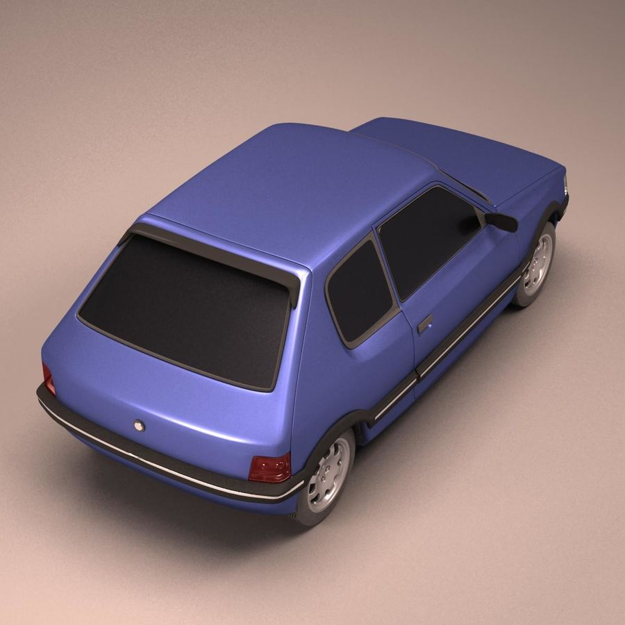 Compact Car royalty-free 3d model - Preview no. 5