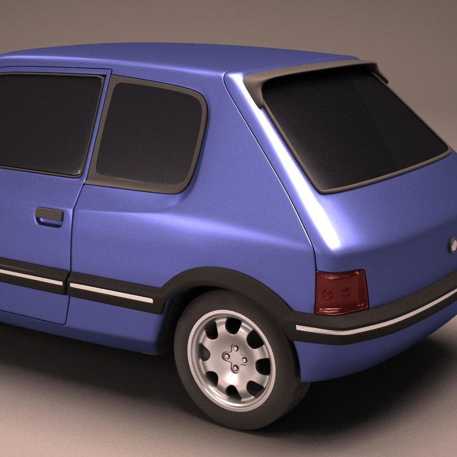 Compact Car royalty-free 3d model - Preview no. 11