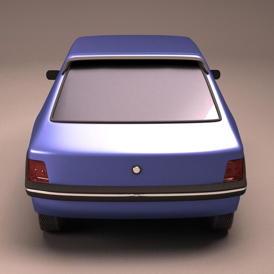Compact Car royalty-free 3d model - Preview no. 12
