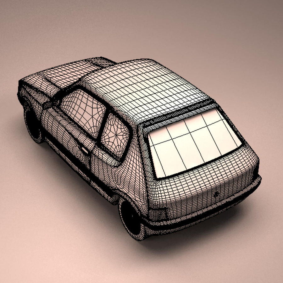 Compact Car royalty-free 3d model - Preview no. 17
