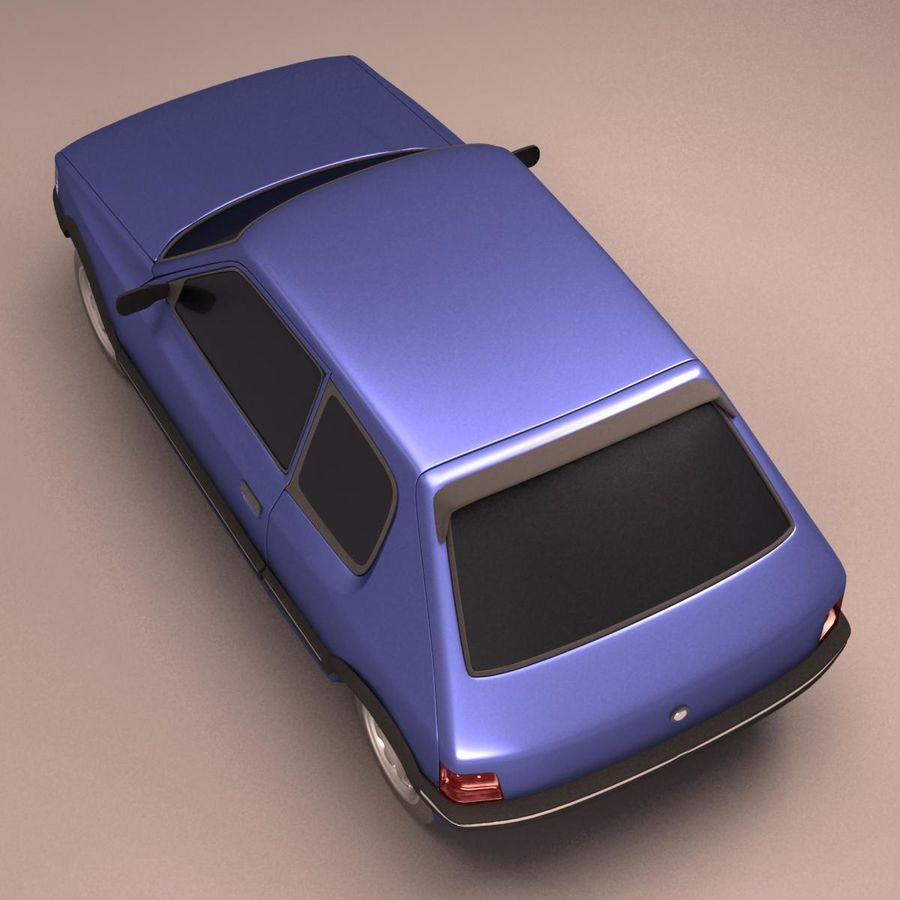 Compact Car royalty-free 3d model - Preview no. 14