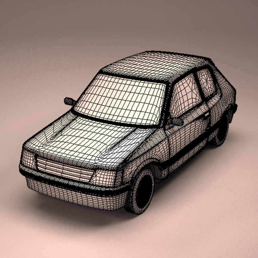 Compact Car royalty-free 3d model - Preview no. 15