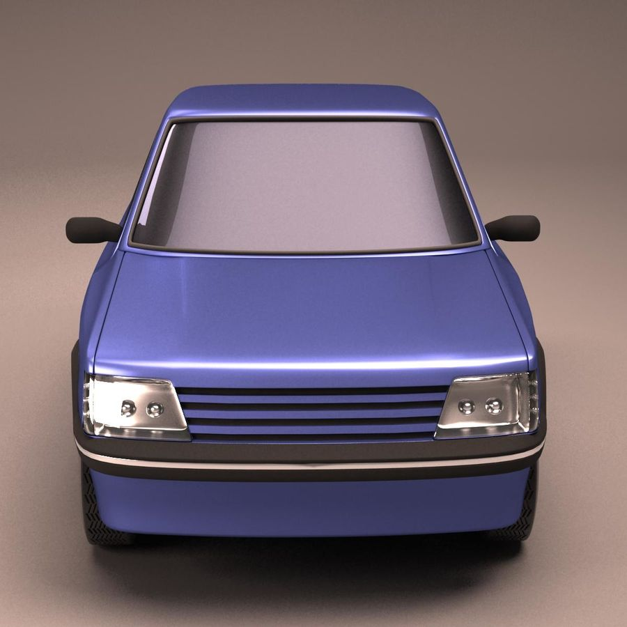 Compact Car royalty-free 3d model - Preview no. 8