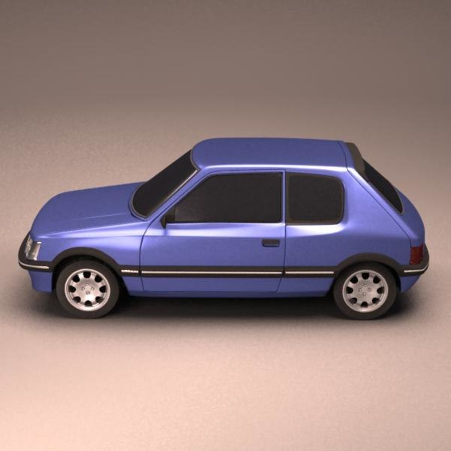 Compact Car royalty-free 3d model - Preview no. 3