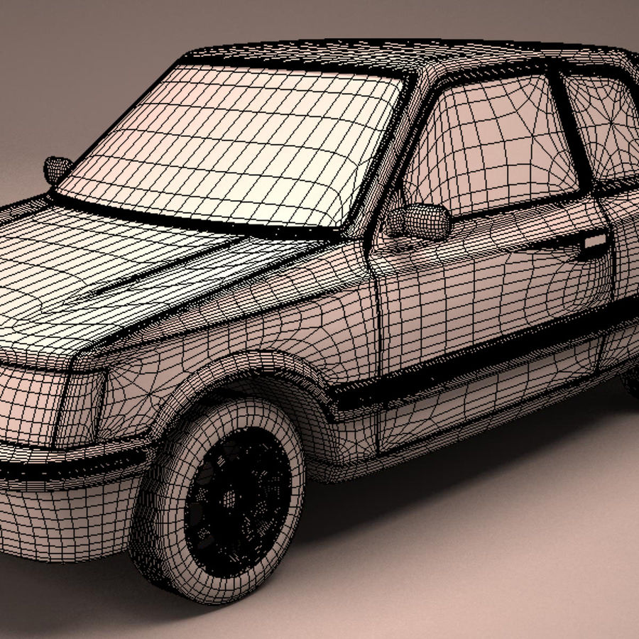 Compact Car royalty-free 3d model - Preview no. 22