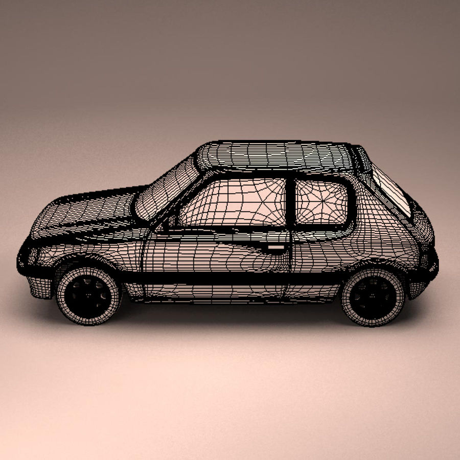 Compact Car royalty-free 3d model - Preview no. 16
