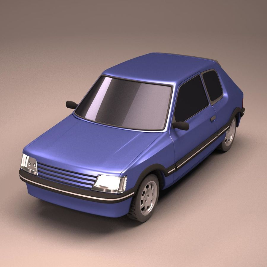 Compact Car royalty-free 3d model - Preview no. 2