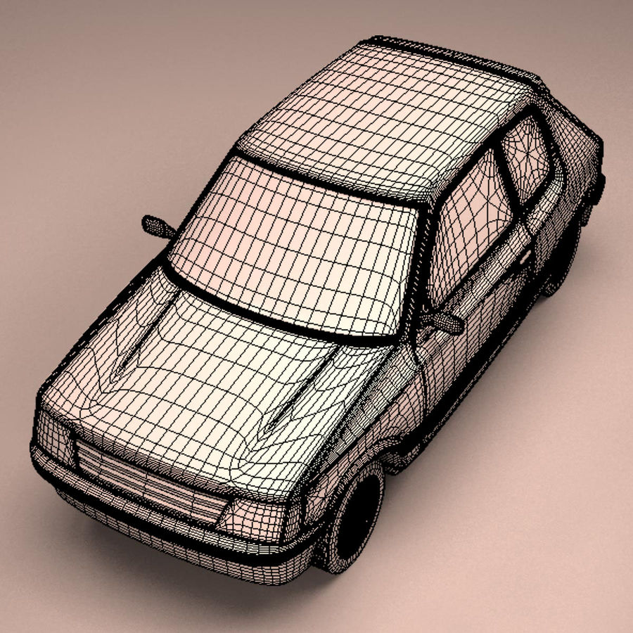 Compact Car royalty-free 3d model - Preview no. 26