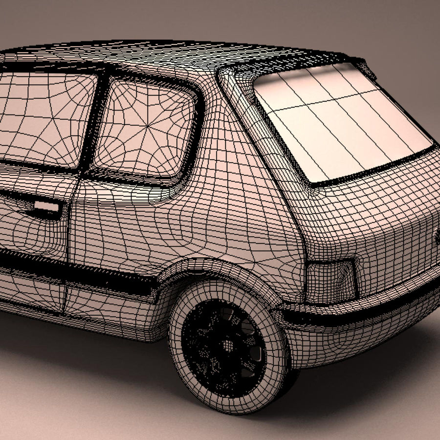 Compact Car royalty-free 3d model - Preview no. 24
