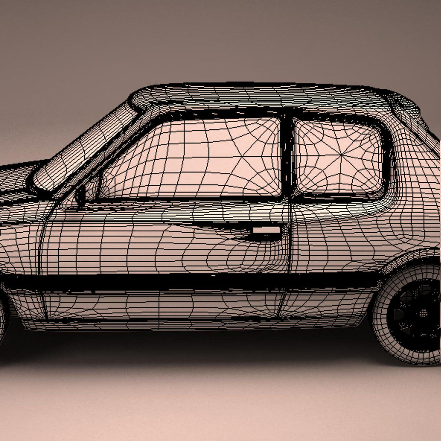 Compact Car royalty-free 3d model - Preview no. 23