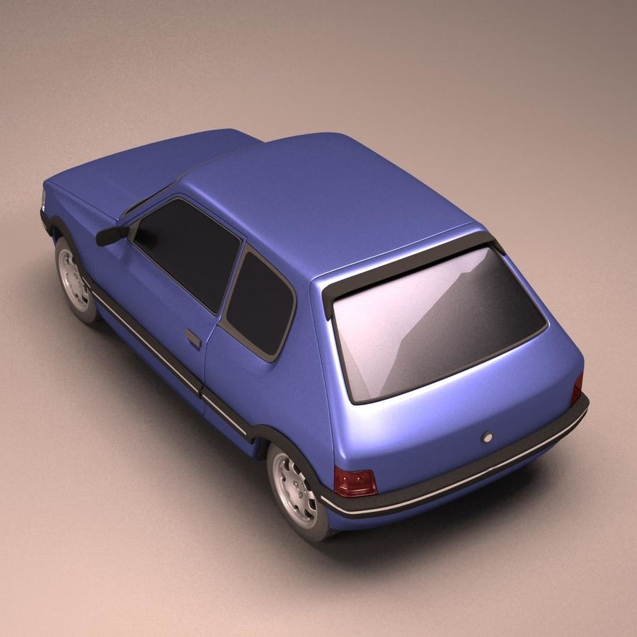 Compact Car royalty-free 3d model - Preview no. 4