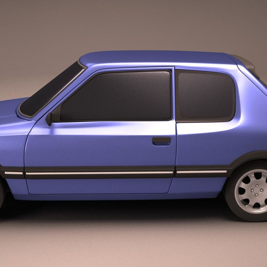 Compact Car royalty-free 3d model - Preview no. 10