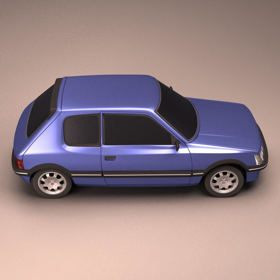 Compact Car royalty-free 3d model - Preview no. 6