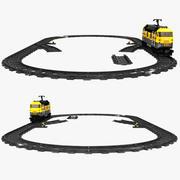 Lego Train Set 3d model