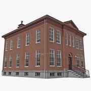 Polizeistation Gebäude 3d model