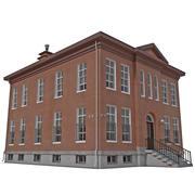 Police Station Building 3d model