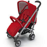 Wózek czerwony parasol Icoo 3d model