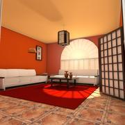 Zen vardagsrum 3d model