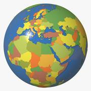 地政学的地球 3d model