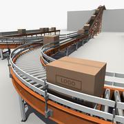 Sistema di trasporto 3d model