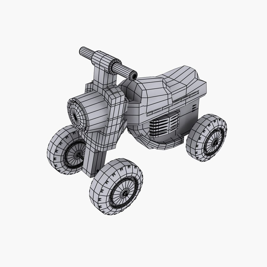 Petit chariot royalty-free 3d model - Preview no. 6