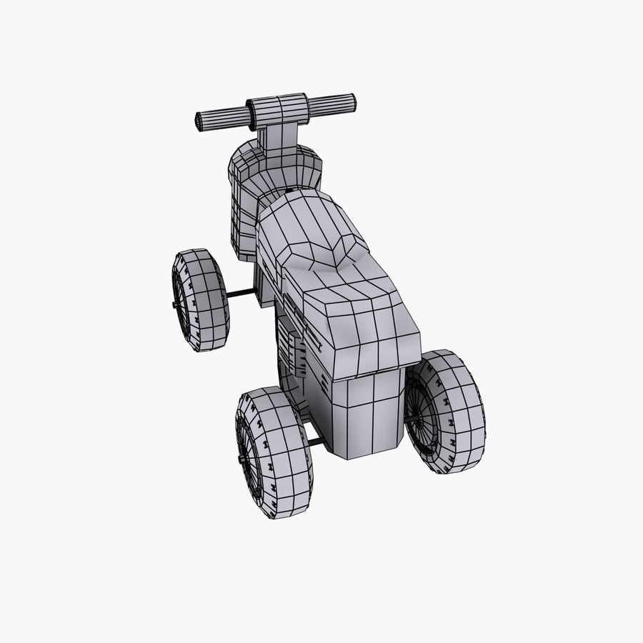 Petit chariot royalty-free 3d model - Preview no. 8