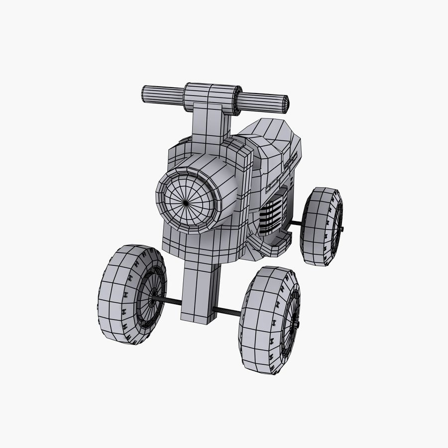 Petit chariot royalty-free 3d model - Preview no. 9