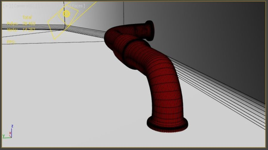 Pipe royalty-free 3d model - Preview no. 2
