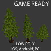 Ağaç Paketi Düşük Poli Oyuna Hazır 3d model