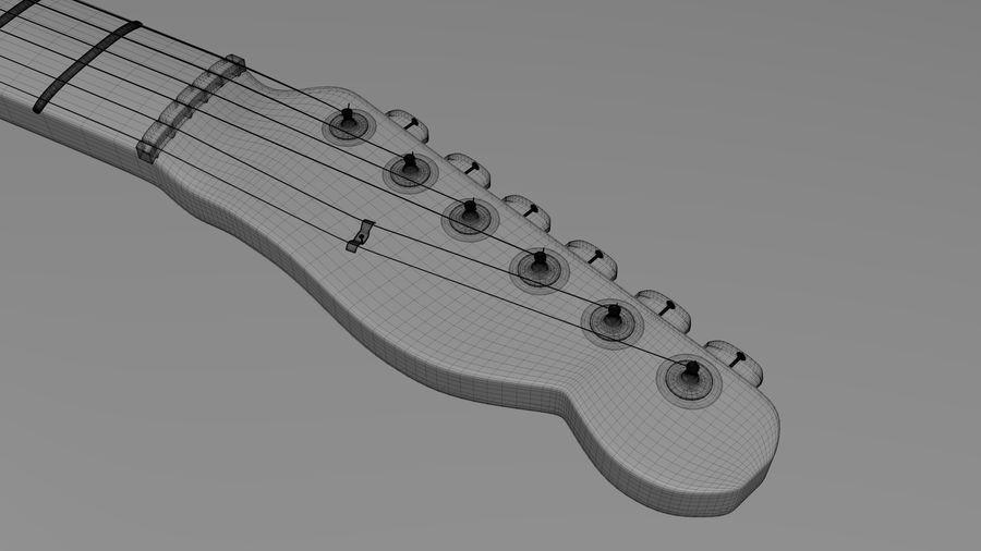 Fender Telecaster High Poly Detaljerad modell! royalty-free 3d model - Preview no. 5