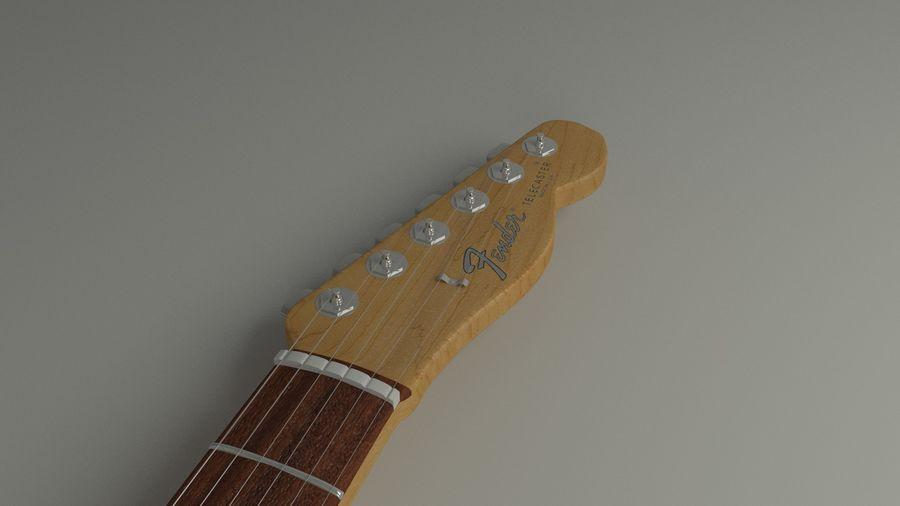 Fender Telecaster High Poly Detaljerad modell! royalty-free 3d model - Preview no. 2