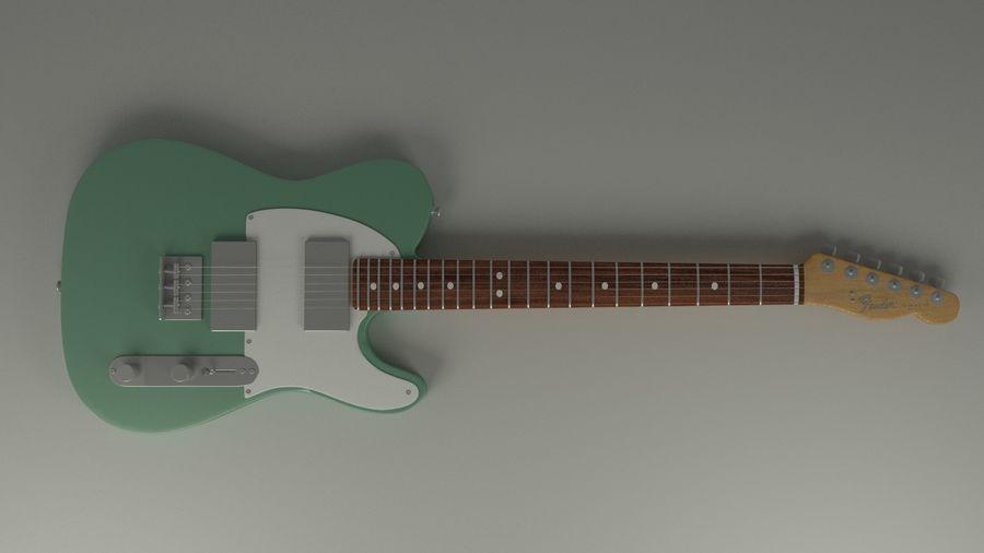 Fender Telecaster High Poly Detaljerad modell! royalty-free 3d model - Preview no. 1