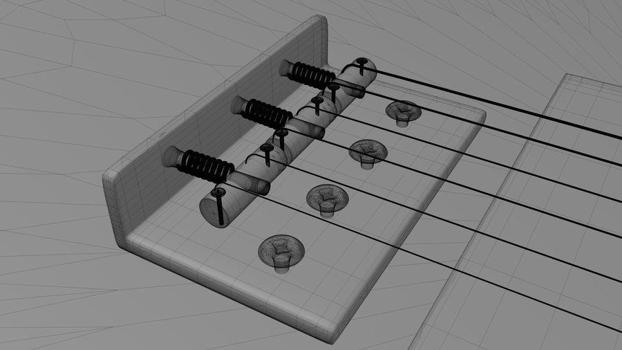 Fender Telecaster High Poly Detaljerad modell! royalty-free 3d model - Preview no. 6