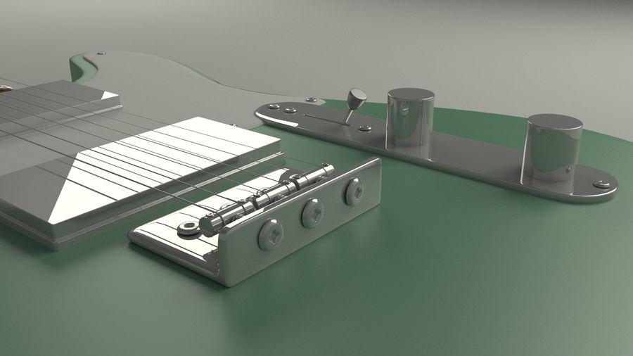 Fender Telecaster High Poly Detaljerad modell! royalty-free 3d model - Preview no. 3