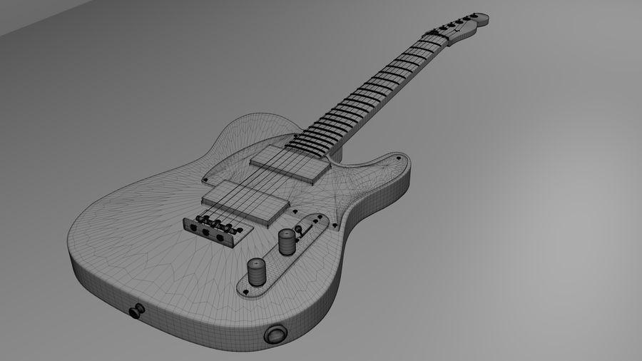 Fender Telecaster High Poly Detaljerad modell! royalty-free 3d model - Preview no. 4