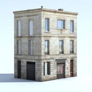 Жилой дом - запеченные тени - Low Poly 3d model