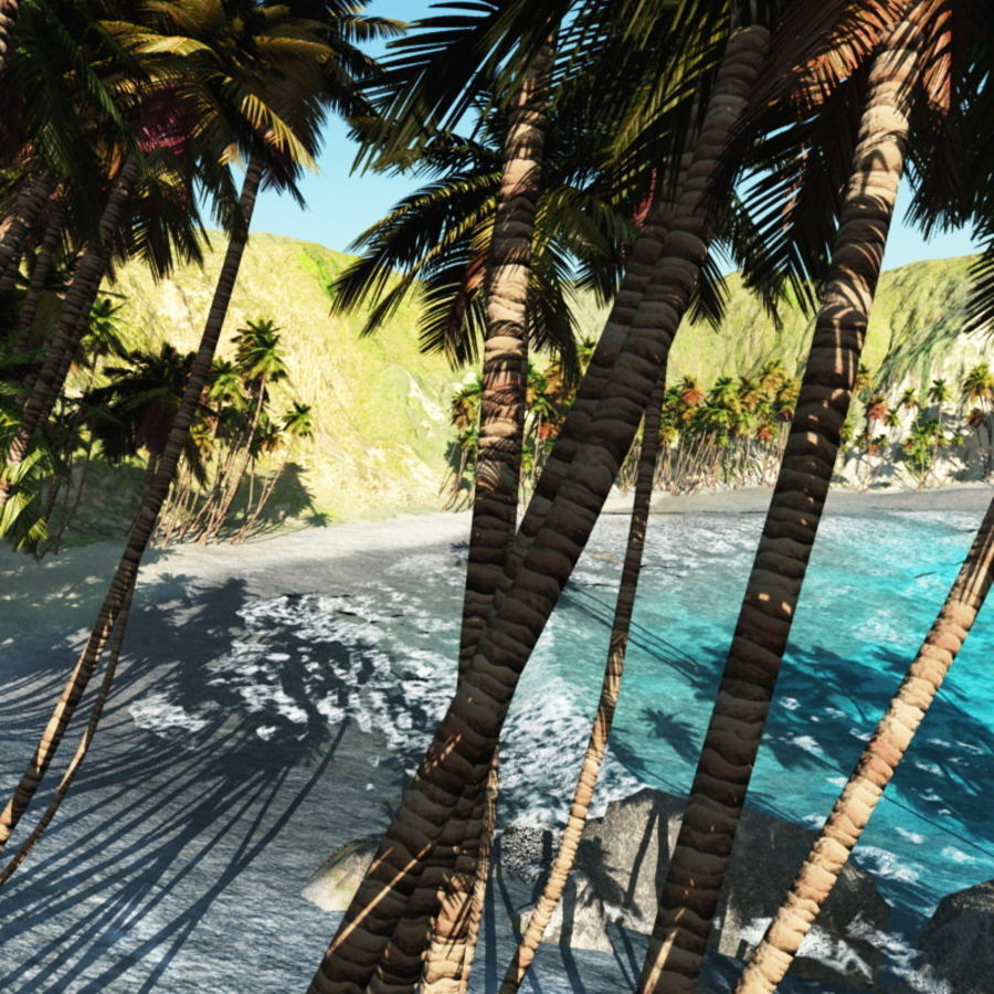 Paradise Beach dla Vue royalty-free 3d model - Preview no. 3