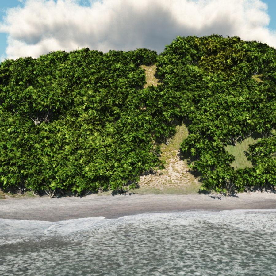 Paradise Beach dla Vue royalty-free 3d model - Preview no. 8