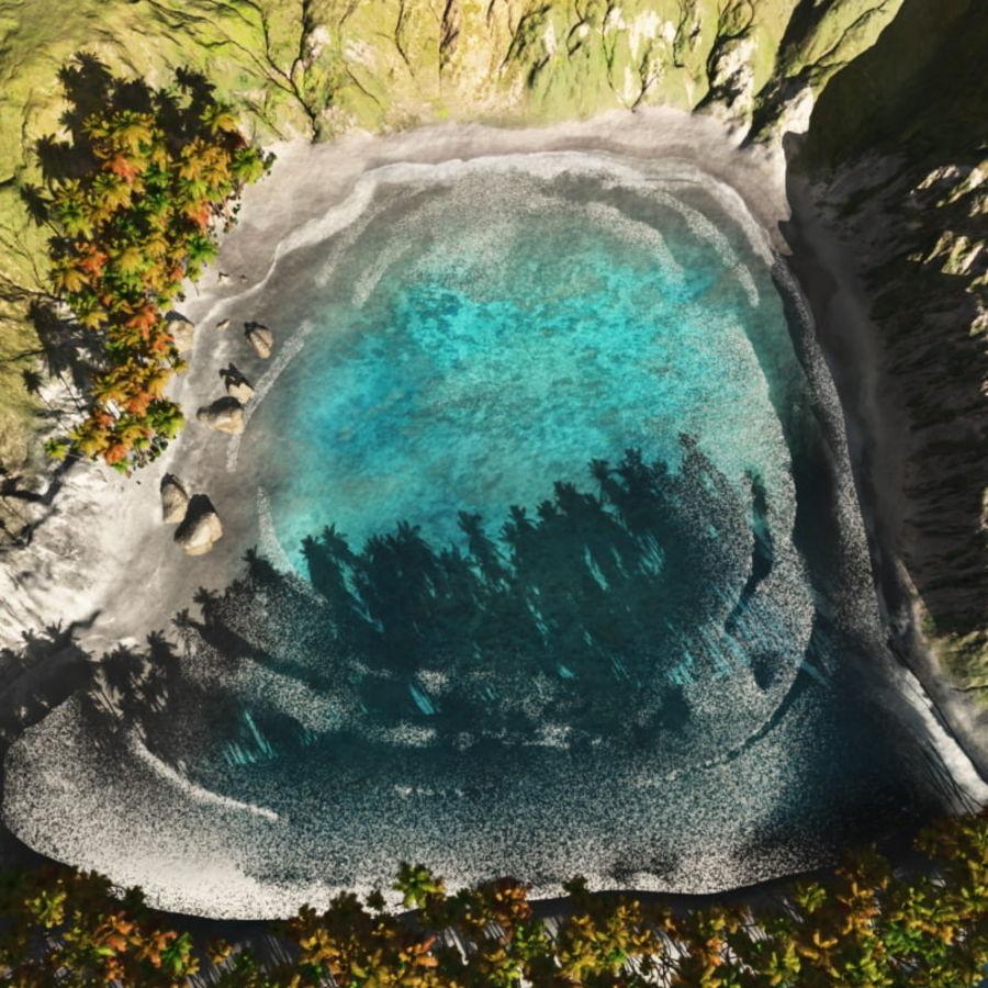 Paradise Beach dla Vue royalty-free 3d model - Preview no. 10