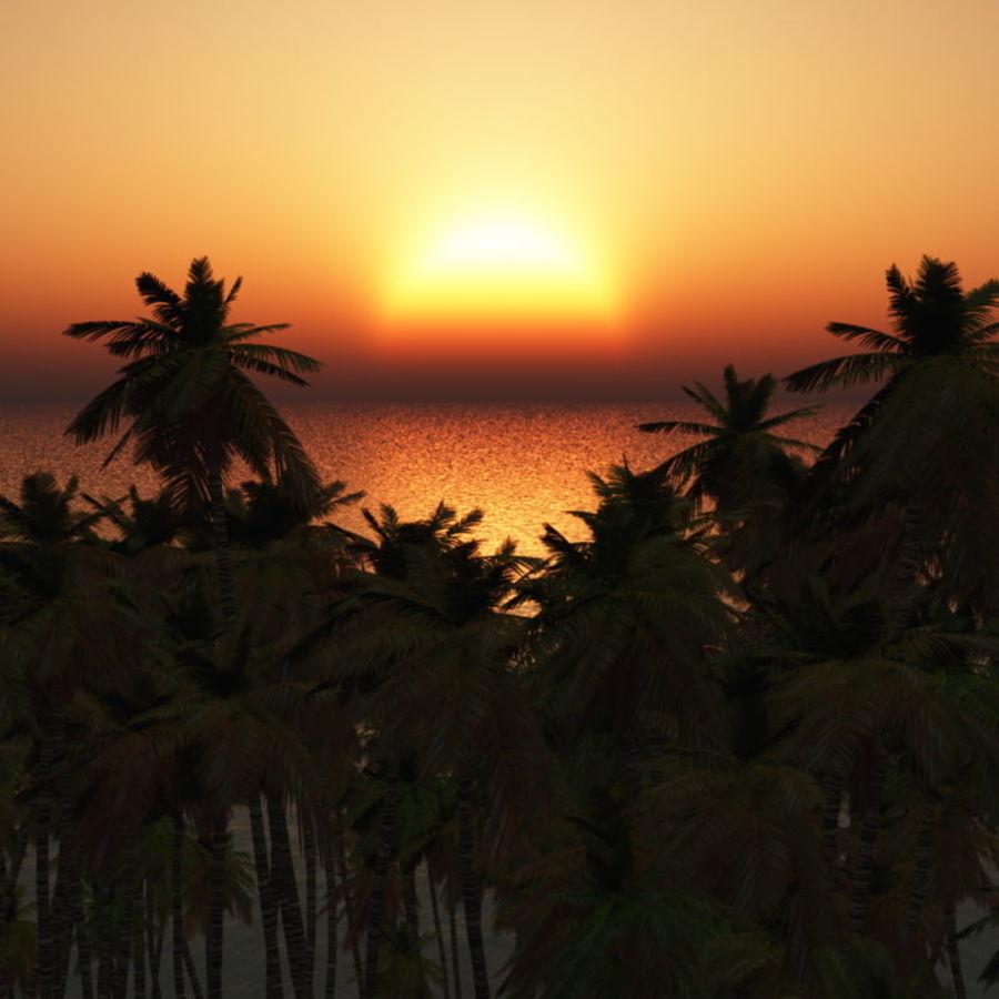 Paradise Beach dla Vue royalty-free 3d model - Preview no. 6