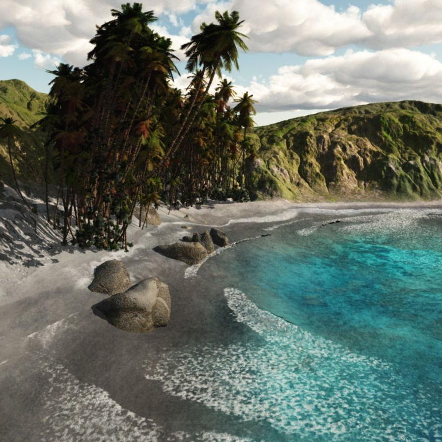 Paradise Beach dla Vue royalty-free 3d model - Preview no. 9