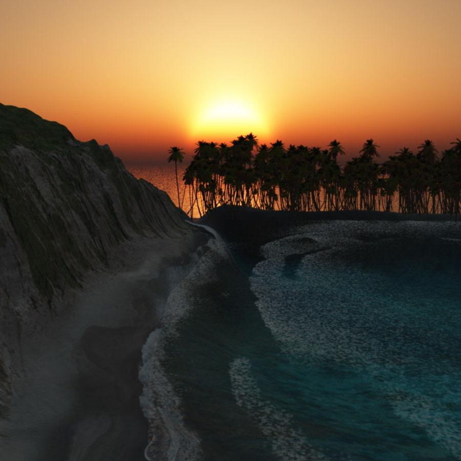 Paradise Beach dla Vue royalty-free 3d model - Preview no. 5
