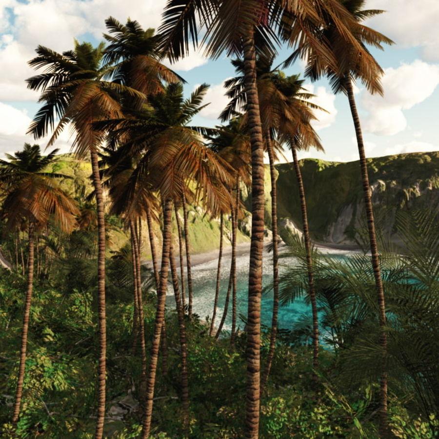 Paradise Beach dla Vue royalty-free 3d model - Preview no. 2