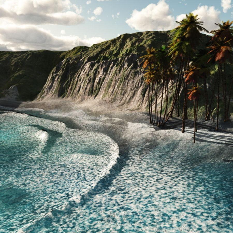 Paradise Beach dla Vue royalty-free 3d model - Preview no. 4