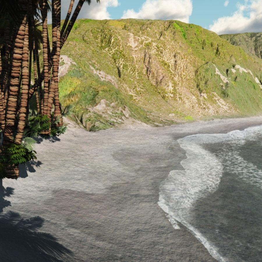 Paradise Beach dla Vue royalty-free 3d model - Preview no. 7